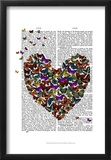 Butterfly Heart Posters by  Fab Funky