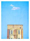 Lonely Skies San Francisco Prints by Mina Teslaru