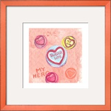 Love Hearts Framed Giclee Print by Anna Platts