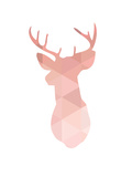 Pink Deer Posters by Melinda Wood