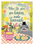 When Live Gives You Lemons Print by Mia Charro