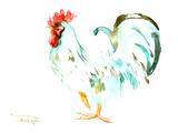 Gallo bianco Poster di Suren Nersisyan