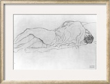 Couple in Bed, c.1915 Framed Giclee Print by Gustav Klimt