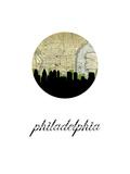 Philadelphia Map Skyline Plakater