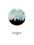 Tampa Map Skyline Prints