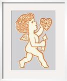 Cupid Holding Heart and Arrow Prints by  Pop Ink - CSA Images