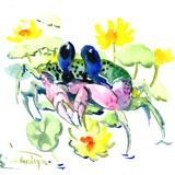 Baby Crab Blue Eyes Prints by Suren Nersisyan