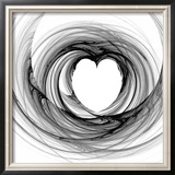 Black And White Sketch Heart Prints by  cycreation