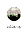 Salt Lake City Map Skyline Art