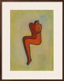 Couple Embracing Framed Giclee Print by Marie Bertrand