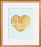 Heart of Gold Love Prints by Miyo Amori