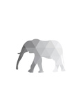 Grey Elephant Prints by Melinda Wood