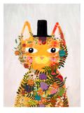 Flower Cat Poster par Mia Charro