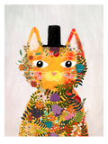 Flower Cat Poster by Mia Charro