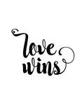 Love Wins Cursive Art by Brett Wilson