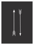 Two Arrows Black Posters by Melinda Wood