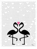 Flamingo Love Prints by Ashlee Rae