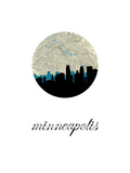 Minneapolis Map Skyline Print