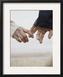 Couple Holding Hands Framed Photographic Print