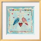 Love Birds Square Prints by Courtney Prahl