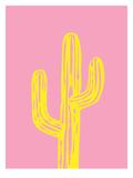 Cactus on Pink Plakater af Ashlee Rae
