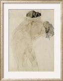 Two Embracing Figures Framed Giclee Print by Auguste Rodin