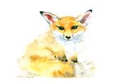 Baby Fox Poster by Suren Nersisyan