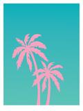 Pink Palm Tree Prints by Ashlee Rae