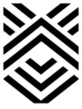 White Black Aztec Prints by Melinda Wood