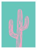 Pink Cactus Posters af Ashlee Rae
