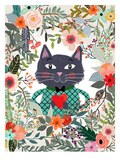 Cat And Heart Posters by Mia Charro