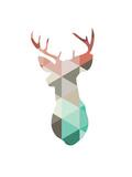Spring Deer Giclée-tryk af Melinda Wood