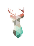 Spring Deer Prints by Melinda Wood