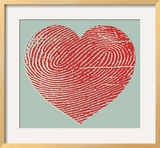 Fingerprint Heart Prints by  Pop Ink - CSA Images