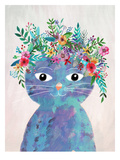 Flower Cat 2 Prints by Mia Charro