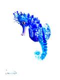 Blue Seahorse Art by Suren Nersisyan