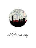 OK City Map Skyline Poster