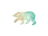 Mint Gold Bear Prints by Melinda Wood