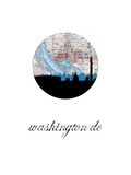 Washington Dc Map Skyline Print