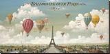 Balony nad Paryżem Płótno naciągnięte na blejtram - reprodukcja autor Isiah and Benjamin Lane