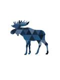 Navy Moose Plakater af Melinda Wood