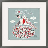 Love Birds Square Posters