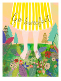 Go Barefoot Posters by Mia Charro
