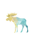 Turquoise Gold Moose Posters by Melinda Wood