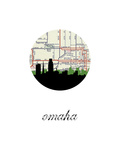 Omaha Map Skyline Posters