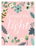 Spread The Light Print by Mia Charro