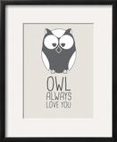 Beige Owl Always Love You Print by  Jetty Printables