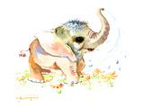 Baby Elephant Print by Suren Nersisyan