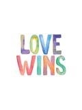 Love Wins Watercolor Print by Brett Wilson