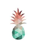Mint Coral Pineapple Reprodukcje autor Melinda Wood